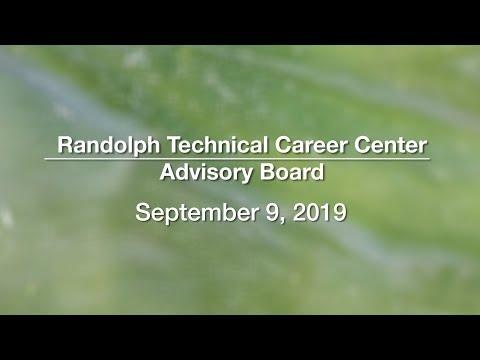 Randolph Technical Career Center School Board - September 9, 2019