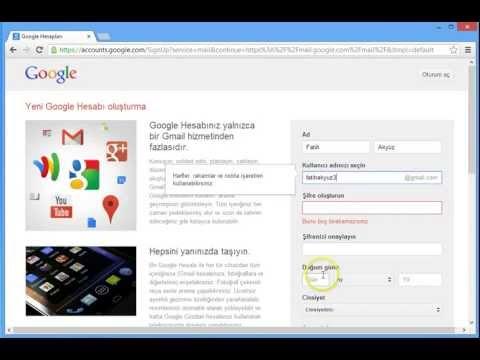 Gmail Hesap Aç - www.delinetciler.net