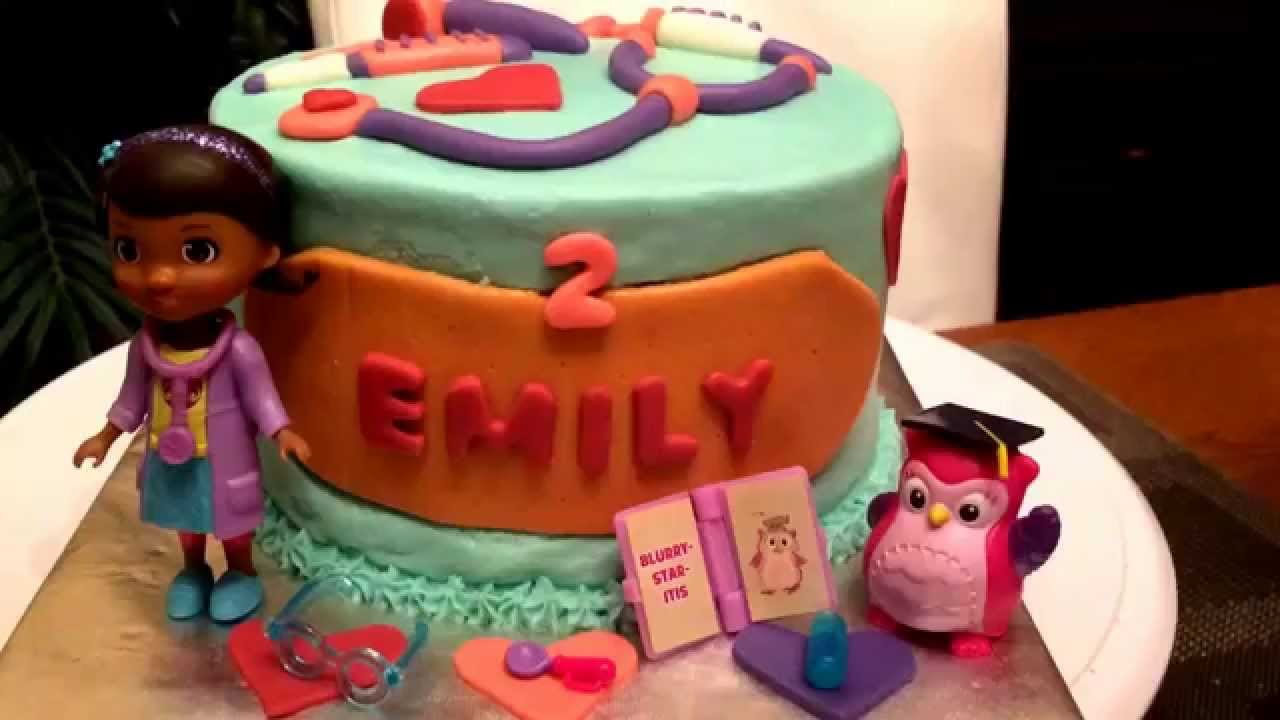 Doc McStuffins Birthday Cake Eye Doctor Hootsburgh YouTube