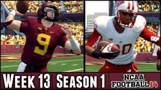 NCAA Football 14 Dynasty - Battle for Paul Bunyan's Axe! - Week 13 vs Wisconsin (Season 1)