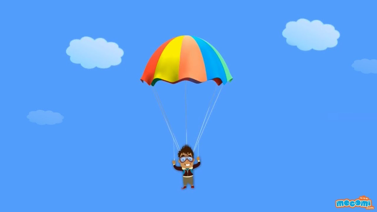 how does a parachute work? - science for kids | educational videos