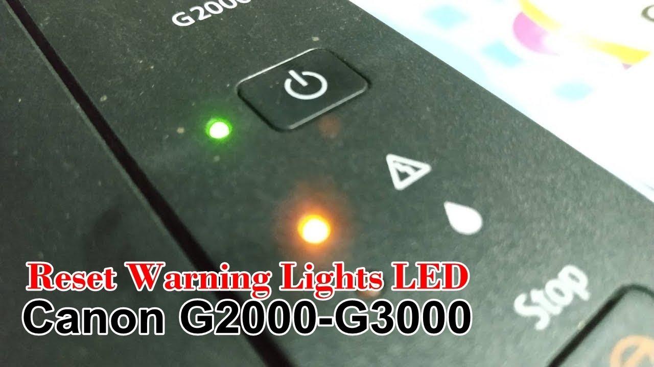วิธีแก้ซับหมึกเต็ม | ไฟสีส้มกระพริบ | Canon G2000,G3000 | Reset warning lights LED