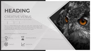 How To Design Black & White Beautiful Presentation Slide in Microsoft Office PowerPoint PPT