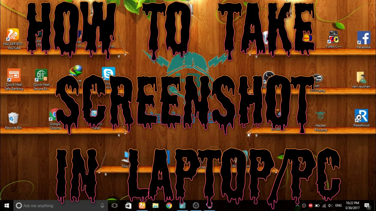 how to take screenshot from computer
