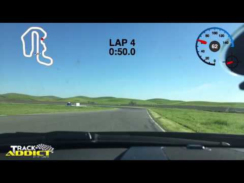Thunderhill 3-mile course 3/17/17 with Hooked on Driving