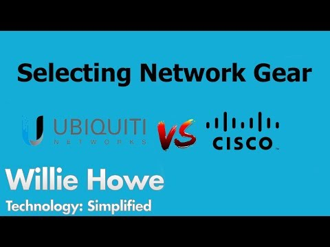 Selecting Network Gear - Ubiquiti Networks vs CISCO