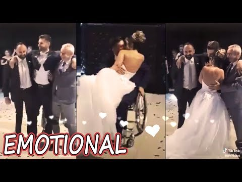 Wheelchair-bound Groom's First Dance With His Bride *EMOTIONAL*