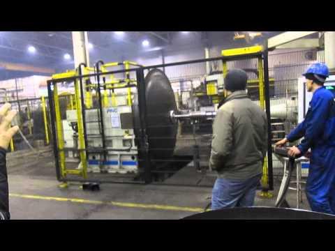 Ротационная вытяжка стального листа. 2. Завод  Сеспель