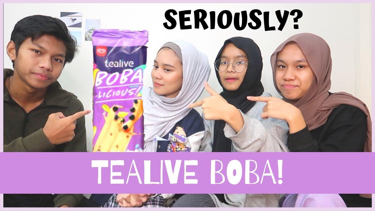 We Tried Wall S X Tealive Boba Ice Cream Youtube