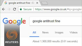 EU fines Google record $2.7 bln in antitrust case
