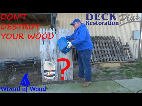 Don't You Or Your Contractors Destroy Your Wood Surfaces Using Bleach! (Sorry About The Wind)