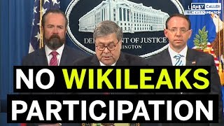 AG Barr: The Trump Campaign Did Not Illegally Participate in Wikileaks Dump