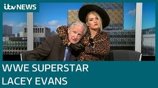 WWE superstar Lacey Evans lands in the Midlands  ITV News
