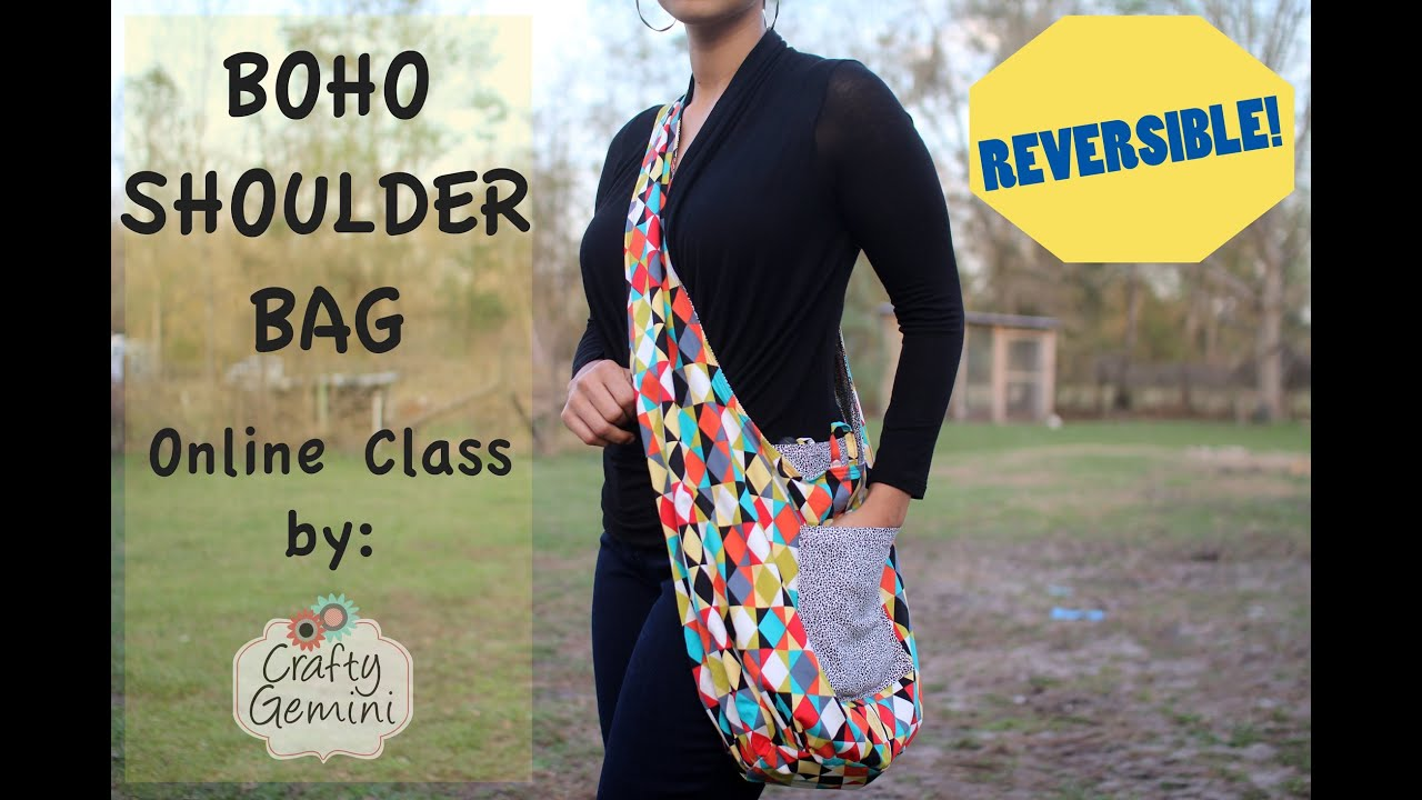 Boho Shoulder Bag- ONLINE CLASS TRAILER - YouTube