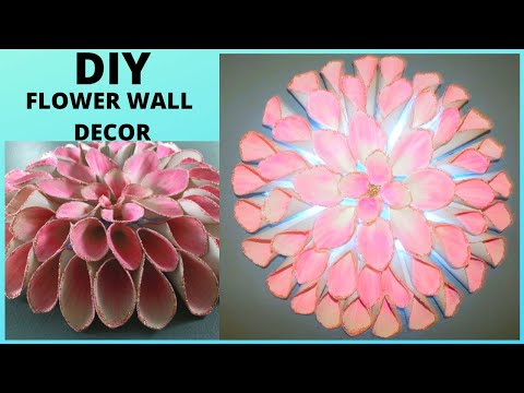 giant-flower-wall-decor-ideas-using-pu-leather-cheap-easy-room-decor
