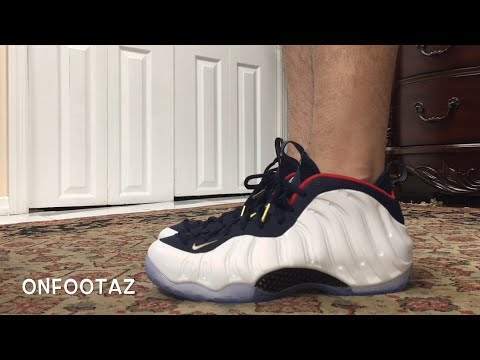 abf946fc00f Nike Air Foamposite One Olympic USA On Foot - YouTube