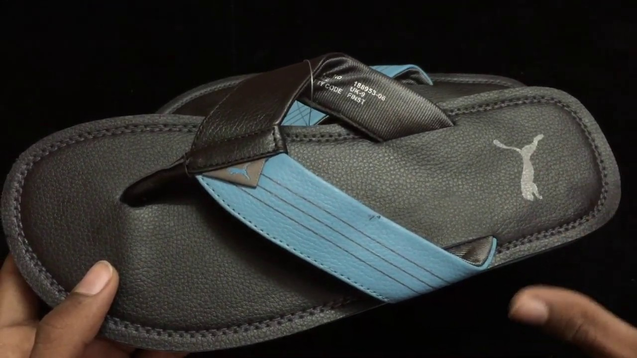 efc2209e930c9 PUMA Men Black Flipflop slippers unboxing