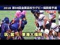 筑紫vs東海大福岡 [1st]  2018全国高校ラグビー福岡県大会 準々決勝