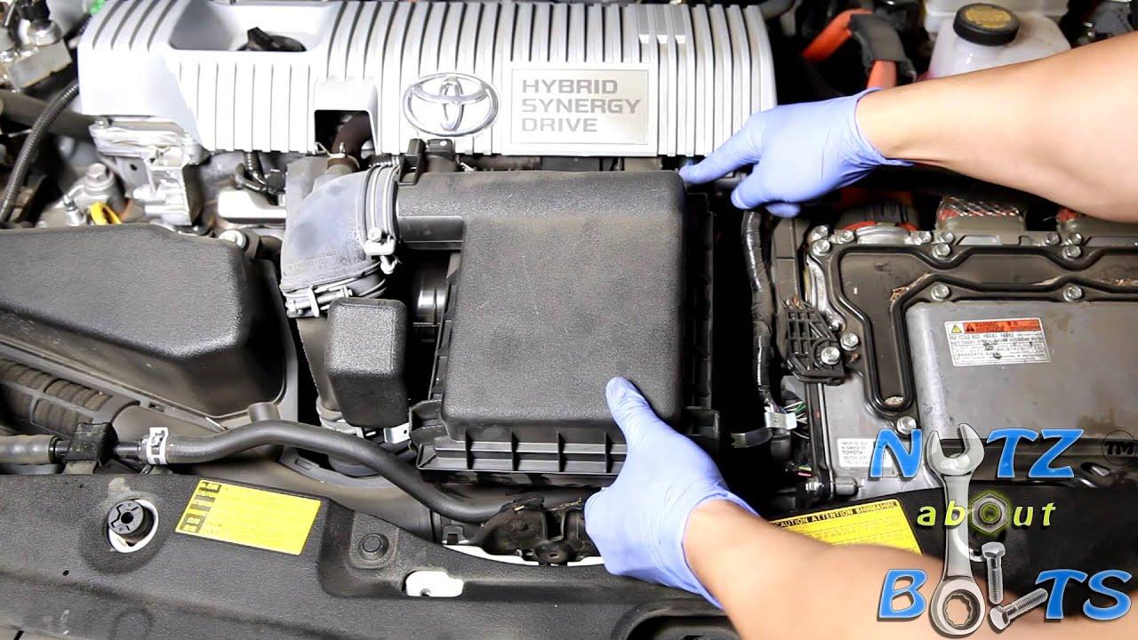 small resolution of 2010 2015 toyota prius engine air filter replacement youtube 2010 prius engine diagram 2010 prius engine diagram