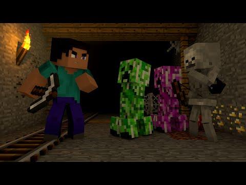 Minecraft: Vida de Creeper #02 - Perigo Na Caverna !!