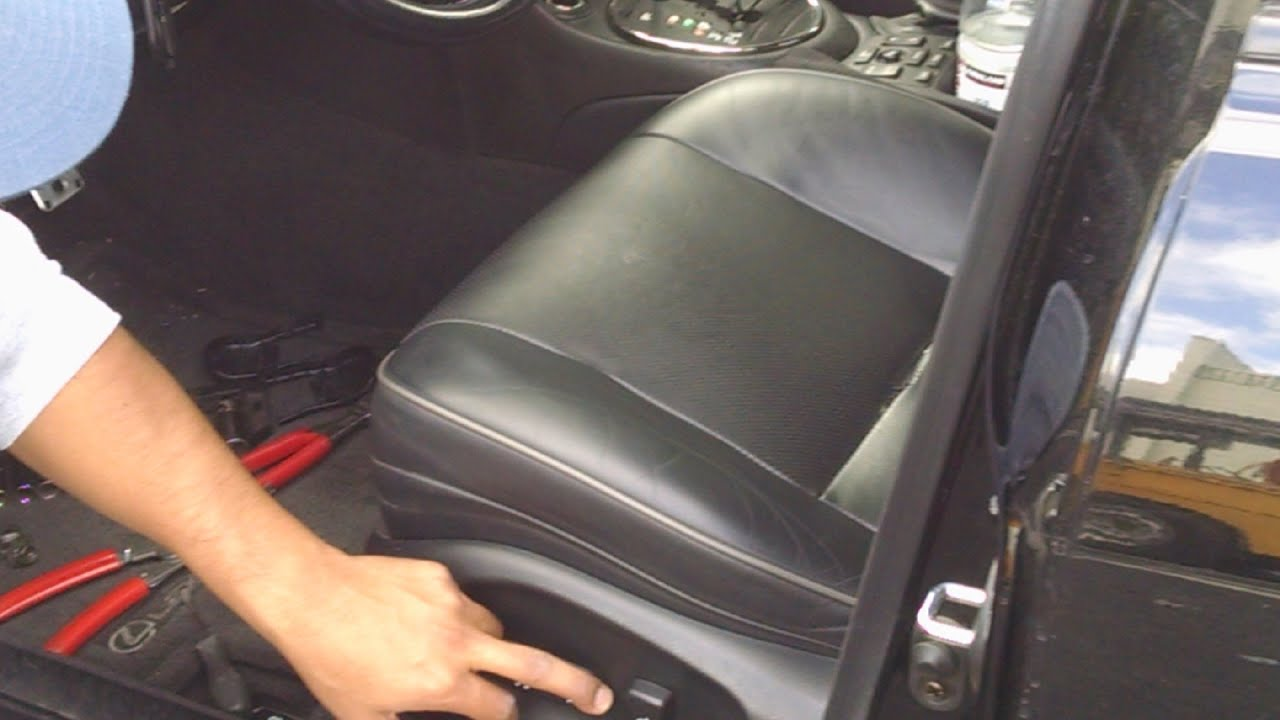 lexus is300 driver seat leather upholstery repair by froggy youtube. Black Bedroom Furniture Sets. Home Design Ideas