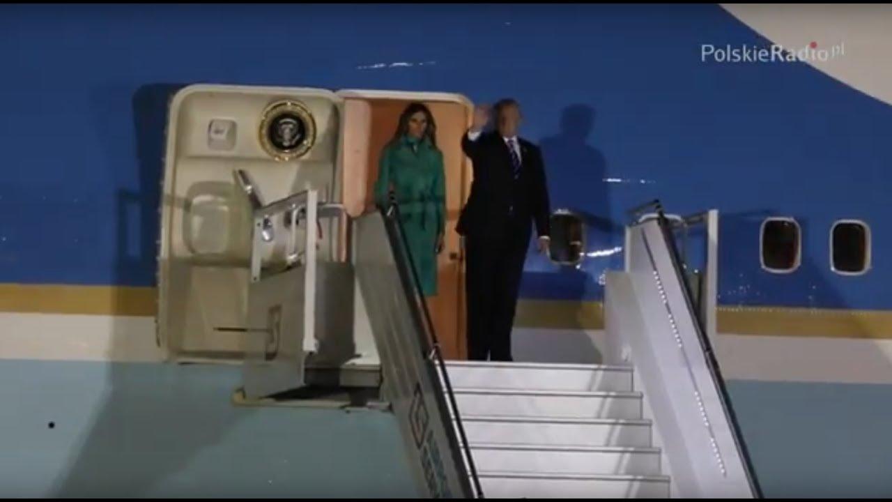 Donald Trump w Polsce. Przylot prezydenckiego samolotu