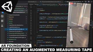 AR Stiftung mit Unity3d und der Erstellung Einer Augmented-Reality-Maßband-Werkzeug