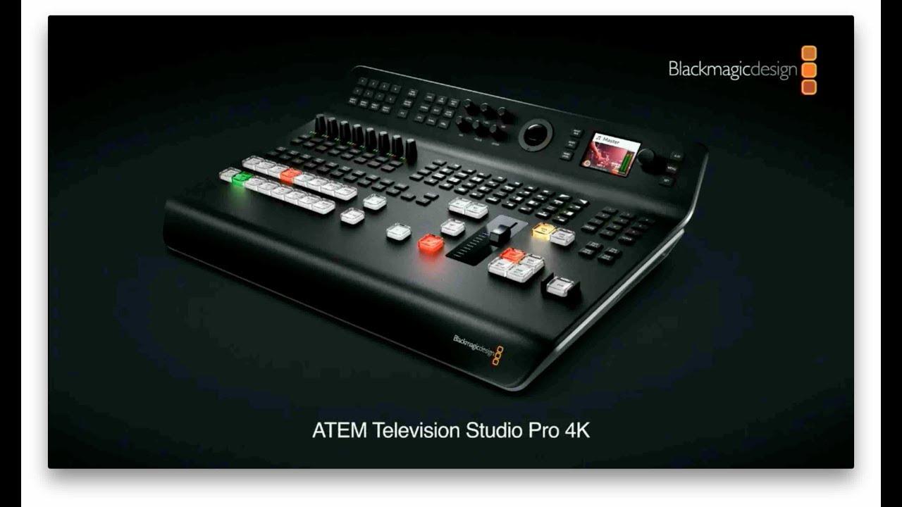 Blackmagic Design Atem Tv Studio Pro 4k Nab 2018 Press Conference Youtube