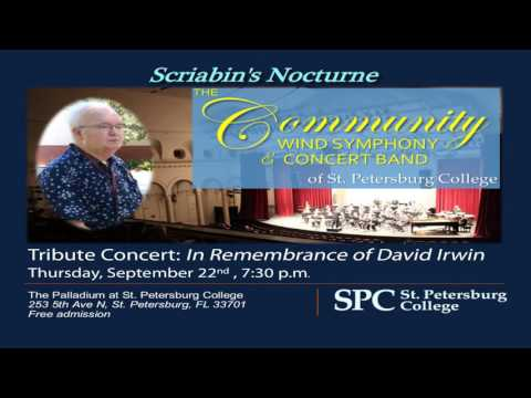 Scriabin Nocturne: David Irwin Remembrance Concert