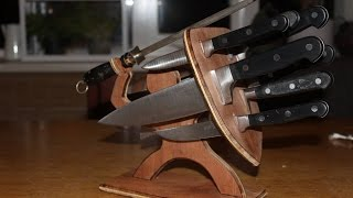 """sparta"" Knife Block Test Without Cnc Router."