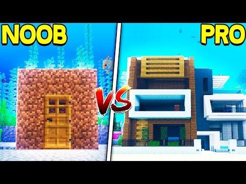 Minecraft NOOB VS PRO: SECRET UNDERWATER BASE in MINECRAFT!