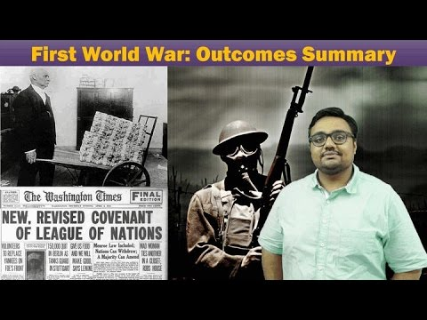 WH-WW1/P4: First World War- Outcomes Summary, Treaty of Versailles, Sevresin