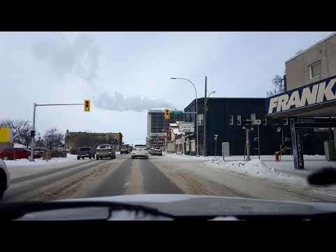 Driving in Winnipeg - Downtown to McPhilips, 2018-02-03