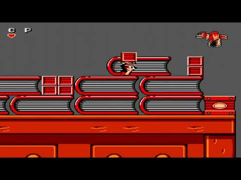 NES 1990 Chip 'n Dale Rescue Rangers FULL GAME