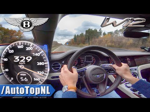 BENTLEY Continental GT W12 635HP | 329km/h on AUTOBAHN (No Speed Limit) by AutoTopNL