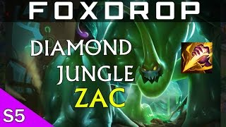 [S5] Jungle Zac Commentary (Cinderhulk OP) - Diamond League of Legends