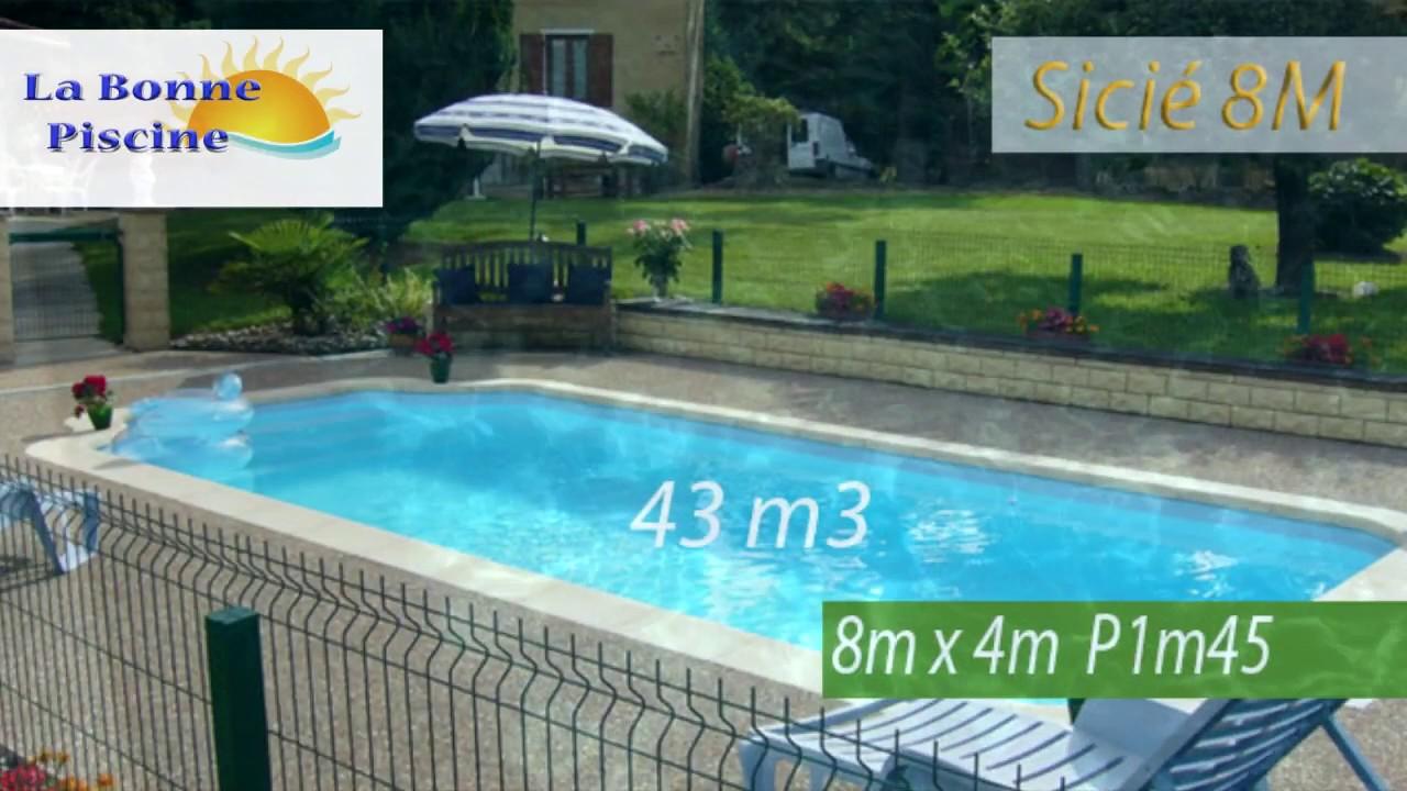 coque piscine 8m