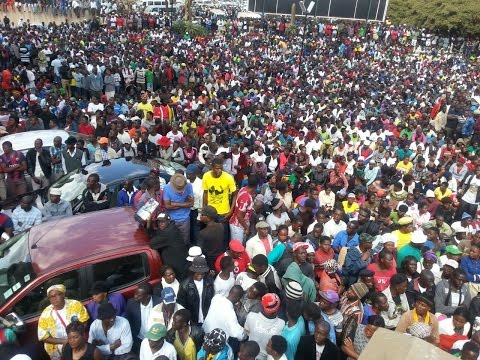 Zanu Pf youths lighter moments at their Party's Hq in Harare.