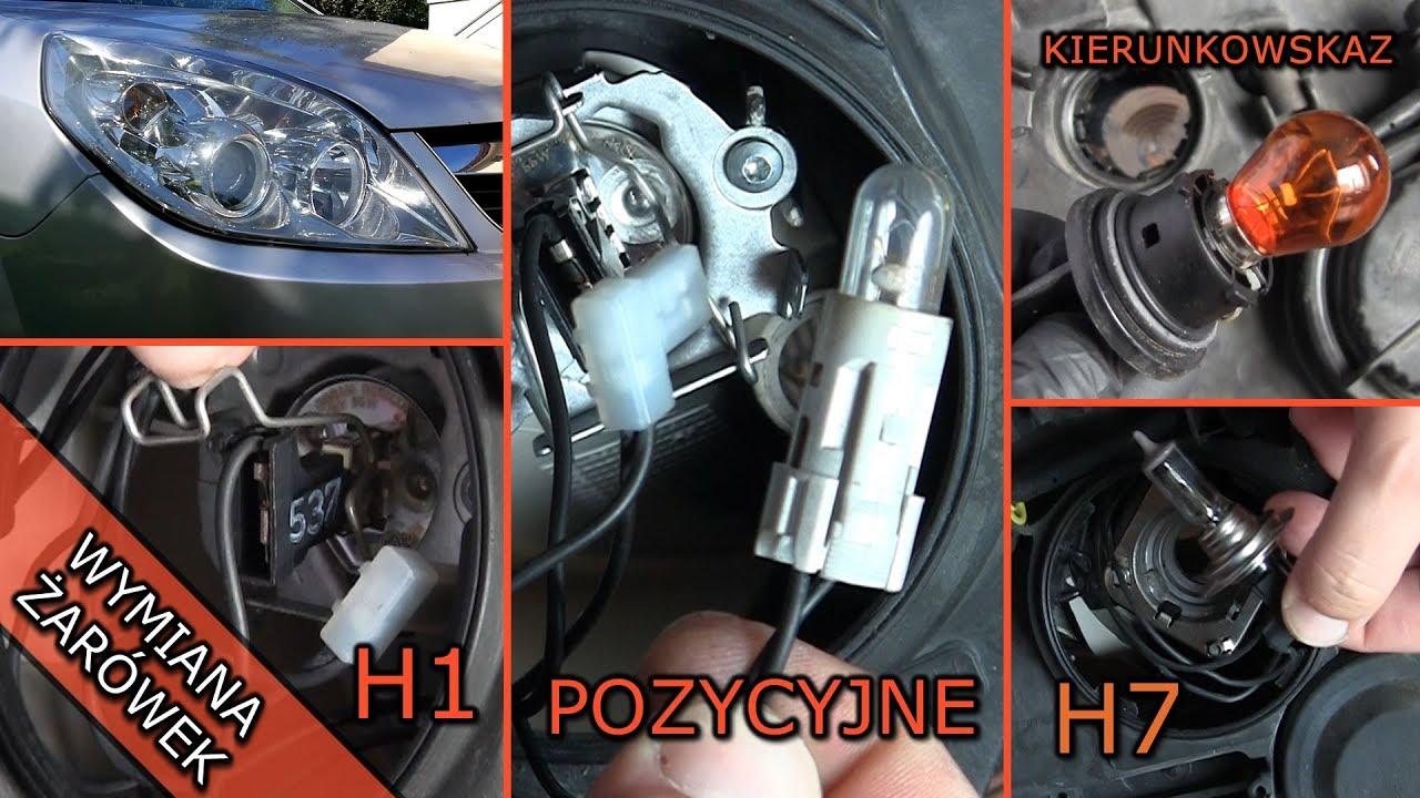 Wymiana żarówek Reflektor Przedni Opel Vectra C