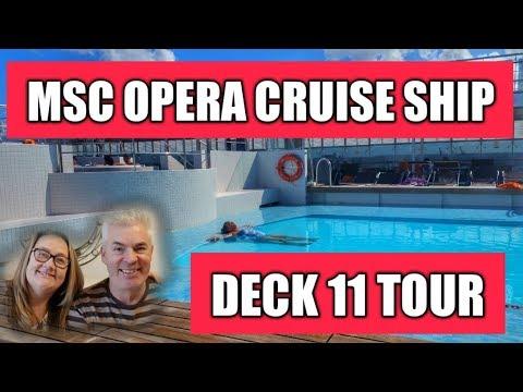 MSC Opera Cruise Ship Deck 11 Tour
