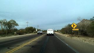 Tucson Dashcam: I-10, Ajo Way, Kinney Road to Saguaro National Park