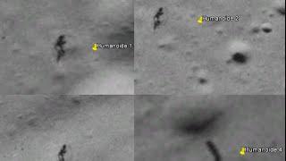 4 Humanoides caminan sobre La Luna o son Sombras
