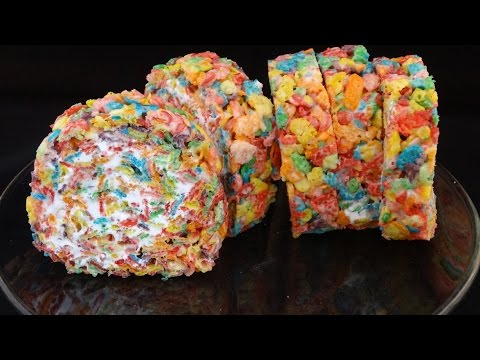 Rainbow Cereal (Fruity Pebble) Roll Ups- with yoyomax12