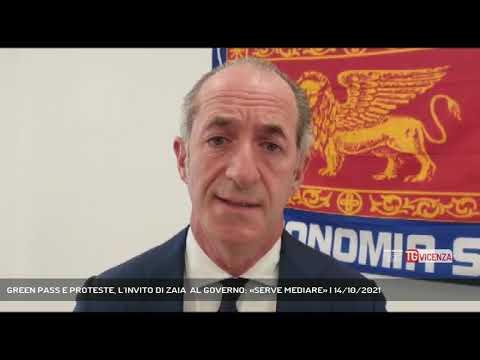 GREEN PASS E PROTESTE, L'INVITO DI ZAIA  AL GOVERN...