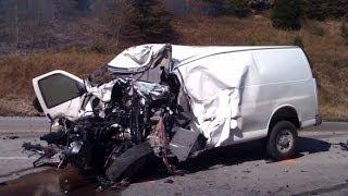 Truck Crash Icy Road Dtp Lkw Unfall