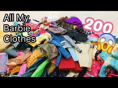 All My Barbie Doll Clothes! 200 Clothes!😱😆💕