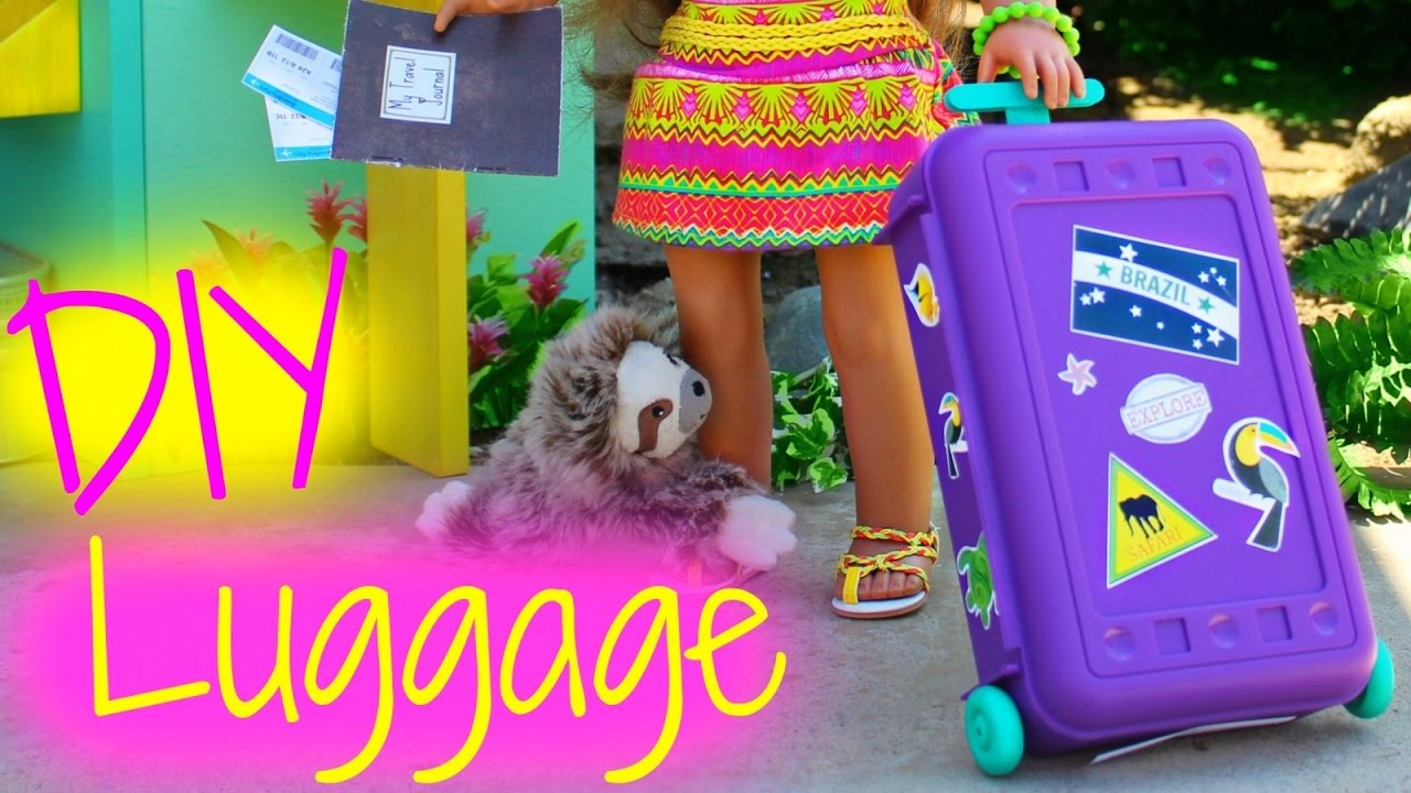 Diy American Girl Doll Luggage Youtube
