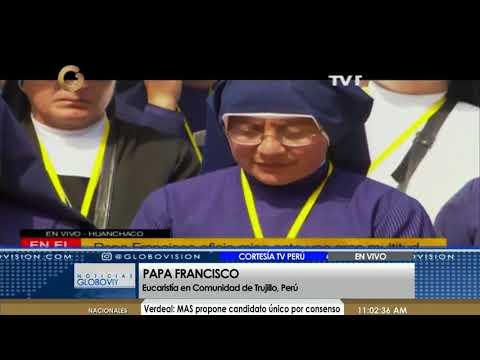El Papa Francisco ofició su primera misa en Perú