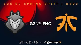 Video G2 vs Fnatic - LCS EU Spring Split 2018 - Week 6 Day 2 - League of Legends download MP3, 3GP, MP4, WEBM, AVI, FLV Juli 2018