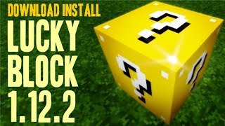 LUCKY BLOCK MOD 1.12.2 minecraft - how to download and install lucky block 1.12.2 (with forge)